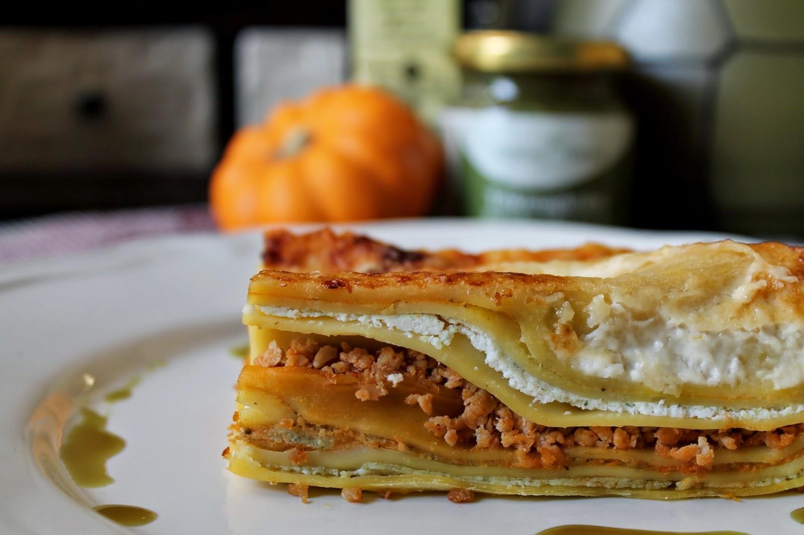 tökmagkrémes lasagne